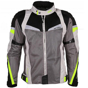 mesh fabric summer motorcycle jacket with armor