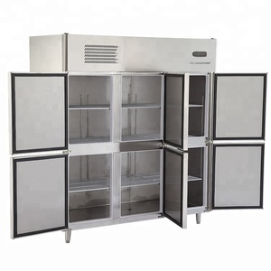 Supermarket display upright 3 door commercial refrigerator