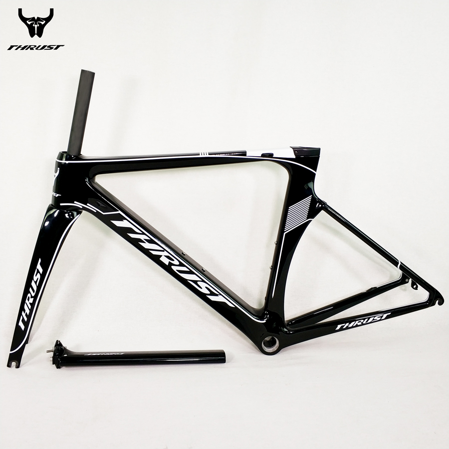 THRUST Carbon Road Bike Frame 48 50 52 54 56 Road Bicycle Frame BSA BB30 9 Colors for Bicycle Parts 2 Years Warranty