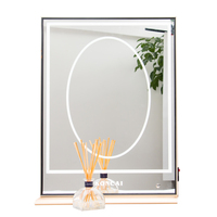 Koncai Jing Pin LED Bulbs Lighted Vanity Makeup Mirror For Indoor Makeup