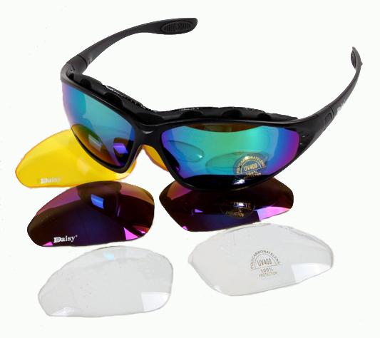 8024da53cdb6d Get Quotations · Tactical Men 4 Lens Eyewear Daisy C4 UV400 Sunglasses  Desert Storm Polarized Glasses Men Motorcycle Sunglasses