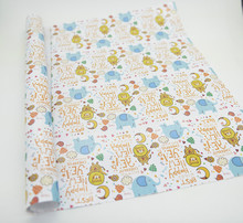 Funny pattern gift wrapping paper happy design wrapping paper