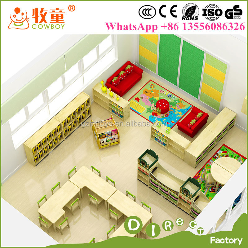 Modern Preschool Classroom ~ Moderne kids kleuterklas apparatuur voorschoolse