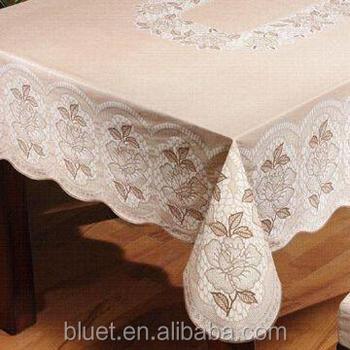 Great Manufacturer Disposable PVC Plastic Transparent Tablecloth Flower Designs  Non Slip Tablecloth