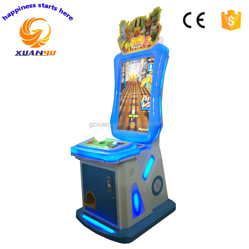 hot products 2017 coin pusher amusement arcade video games Subway surfer / Parkour ticket/prize redemption game machine for kids