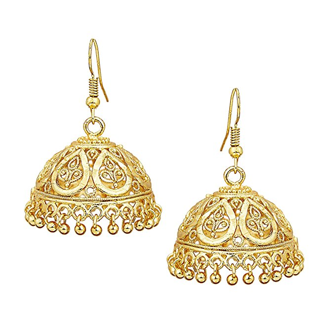 Fashion Jewelry Gold Jhumka Earrings Design With Price Earring