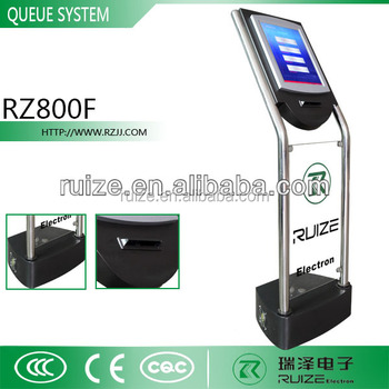 Lcd Touch Ticket Dispenser Electronic Wireless Queue Calling ...