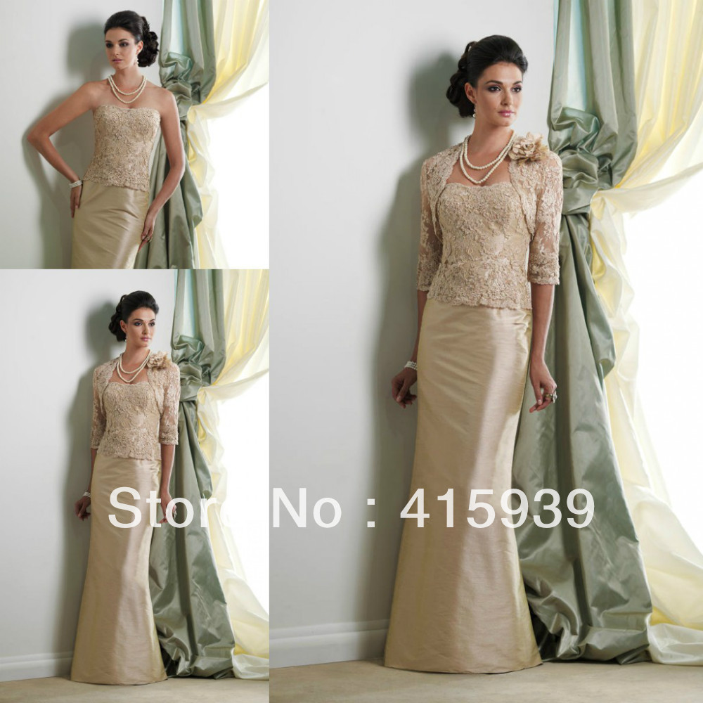 Mother Of The Bride Long Dresses With Jackets Dfrvbt