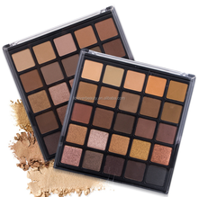 Wholesale private label shimmer cosmetic eye shadow palette 25 color high quality professional matte makeup eyeshadow