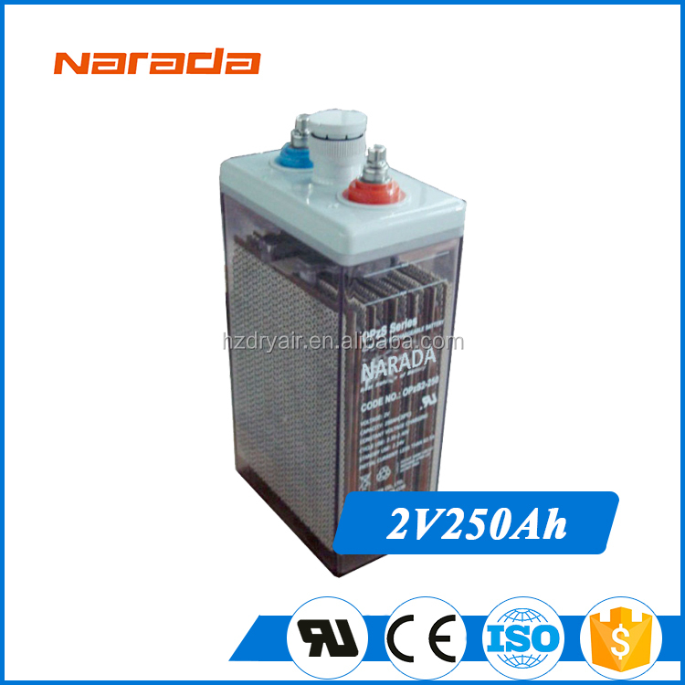 Narada 250Ah 2V Solar Gel OPzS Series Recharge battery