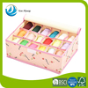 household fashion design folding socks storage box customized oxford storage bins with 18 grids