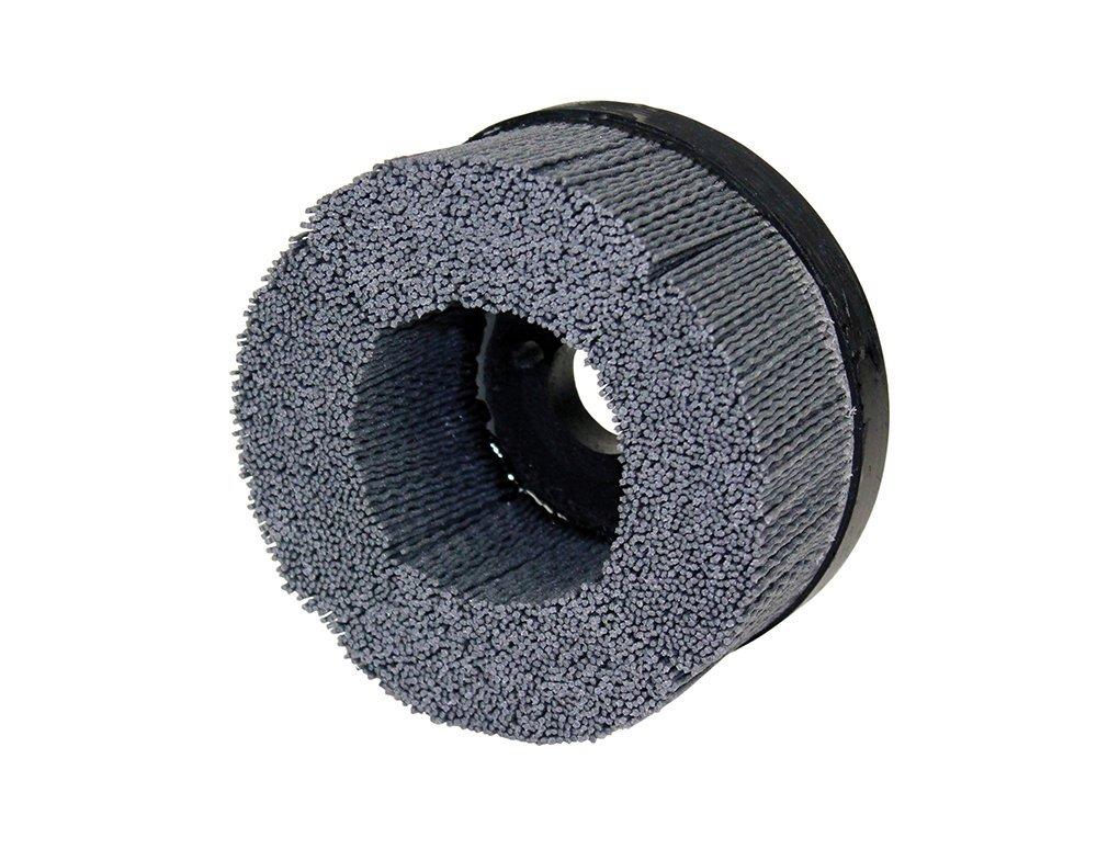 """Osborn 47037SP UNI-LOC Abrasive Disc Brush, Silicon Carbide, 3000 Maximum RPM, 5"""" Diameter, 7/8"""" Arbor Hole, 0.022"""" Fill Diameter, Crimped, 1-1/2"""" Trim Length, 320 Grit Size"""