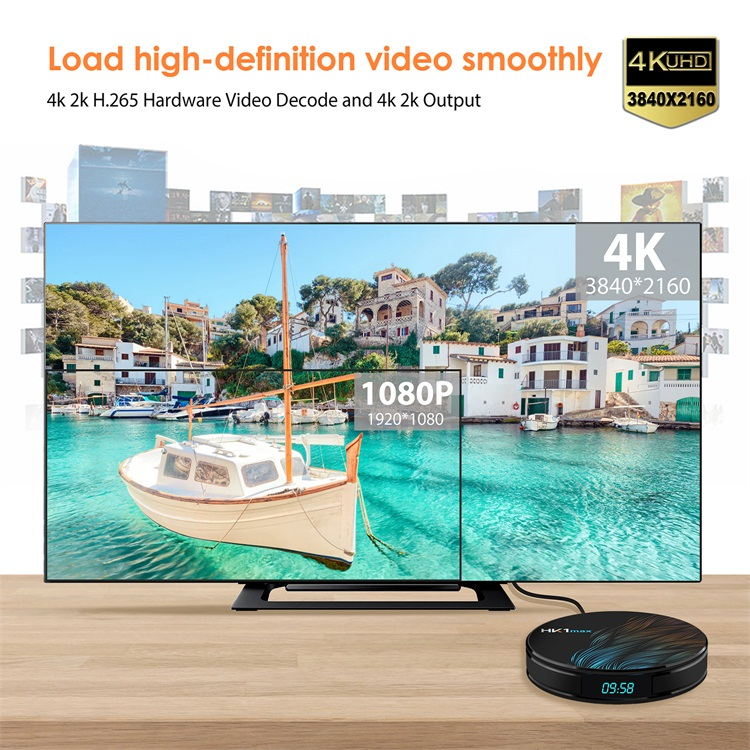 Excellent quality HK1 MAX Android 9.0 rockchip RK3328 4k uhd android tv top set box 4gb ram