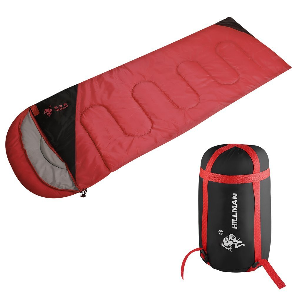 OUTAD Sleeping Bag – Envelope Lightweight Portable, Waterproof, Comfort With Compression Sack - Great For 4 Season Traveling, Camping, Hiking, & Outdoor Activities. (Single)