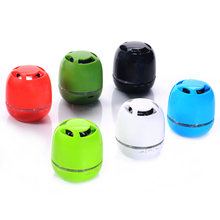 5 color My vision T6 round plastic super loud  wireless mini Speaker / mobile speakers / MP3 player with memory card support