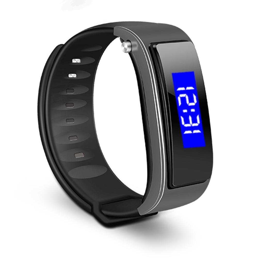 KOBWA Fitness Tracker Watch,Wireless Activity Tracking Wristband+ Bluetooth Earpiece-Bluetooth Music, Headset Call,Time Display, Touch Use,Smart Pedometer Watch for Step Distance Calories Track