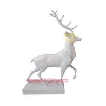 Customized Christmas ornament Fiberglass life size deer statue