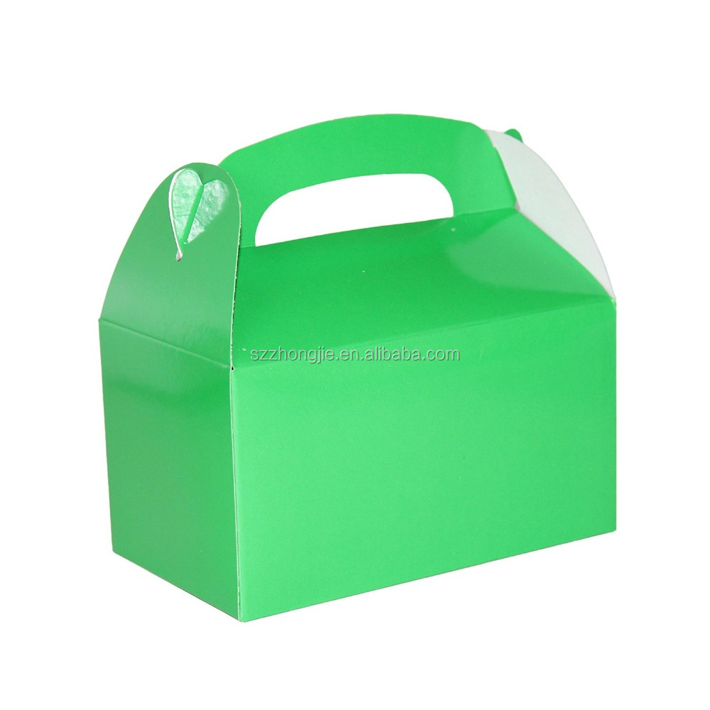 Kid's party favor treat boxes with handle pack of 6pcs