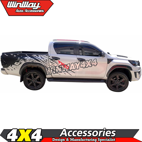 Exterior Accessories CAR Whole Body Sticker 2015-2017 TRD Logo abs Sticker for Toyota Hilux revo