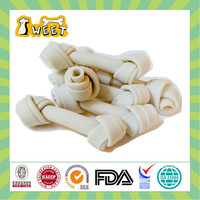 Cheese Flavor Wholesale Bulk Sugar Free Canine Pet Food No Rawhide Knotted Bone White Chew Toy