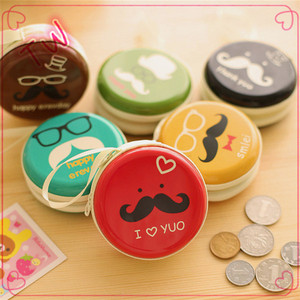 China supplier Wallets & Holders promotional gifts coin case round metal wallet cartoon new style metal purse