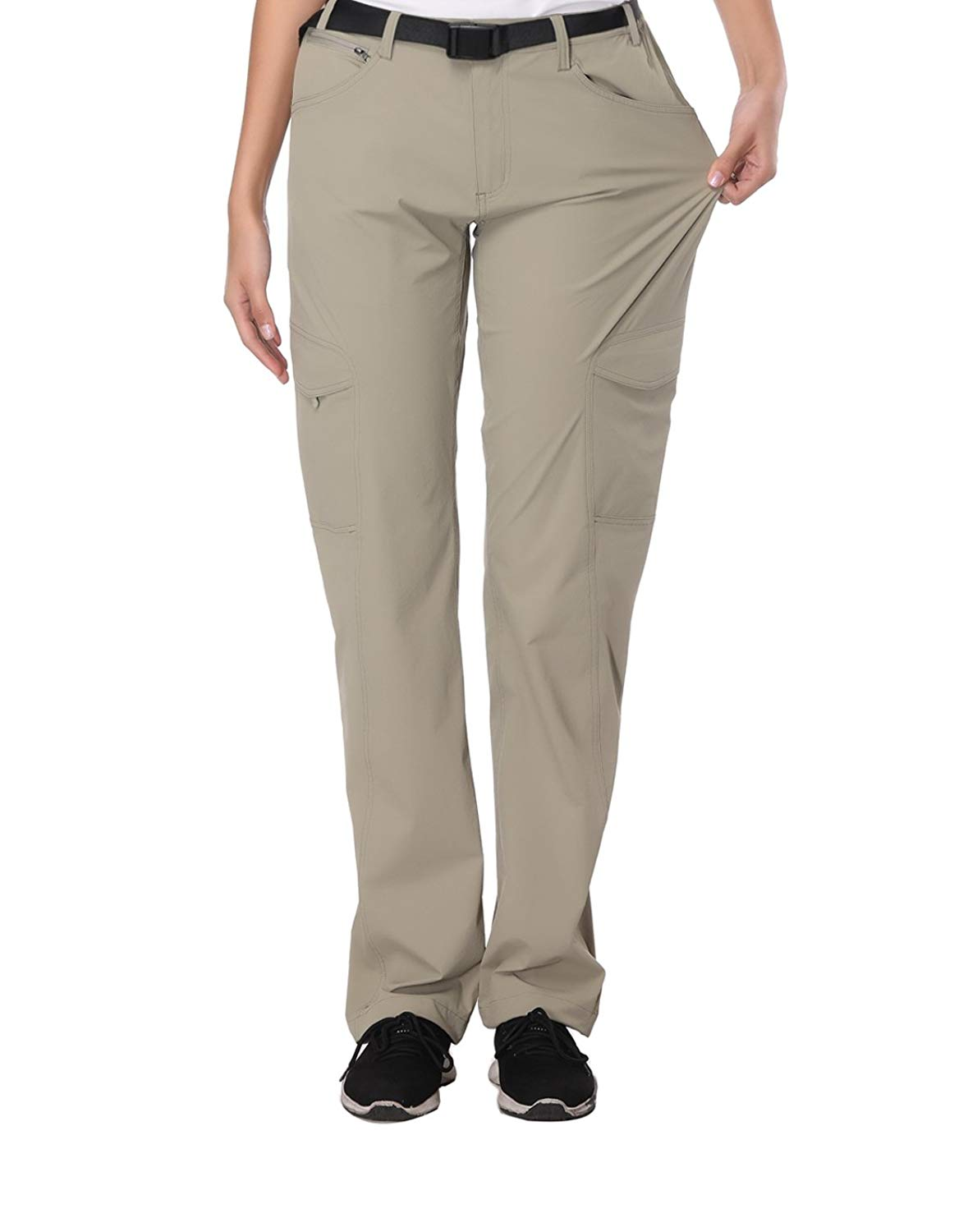 INVOLAND Womens Hiking Pants Outdoor Quick Drying Cargo Pants Lightweight Pants Elstic Waist
