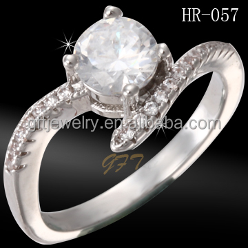 925 silver cz crystal latest wedding designs white zircon engagement ring