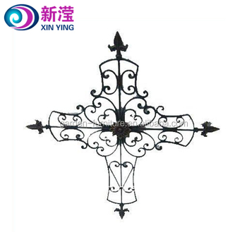 Rustic Wrought Iron Cross Large Wall Decor