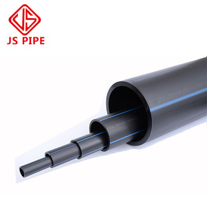 China manufacturer 120mm pn10 pe100 sdr17 black hdpe plastic water pipe