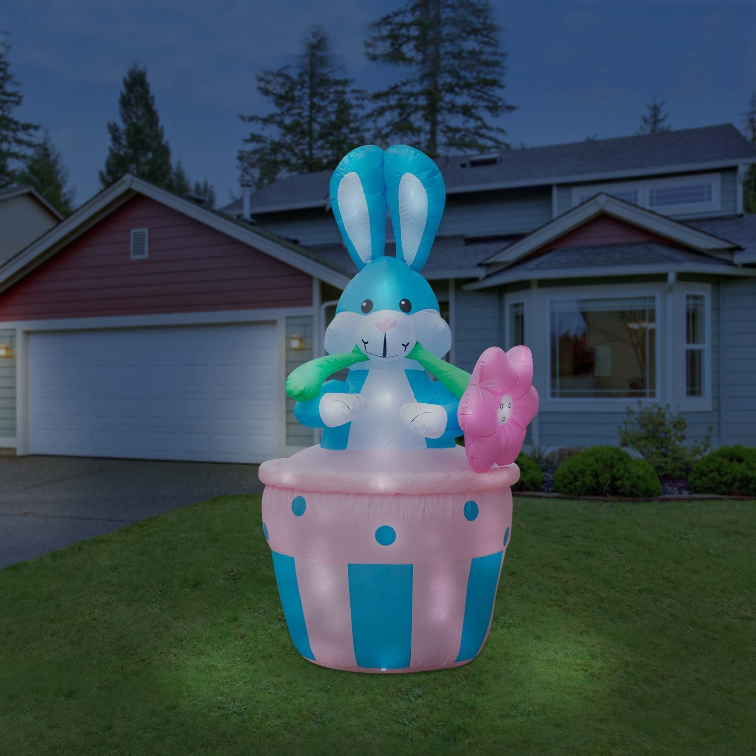 Buy Holidayana Inflatable 8ft Giant Easter Bunny In Basket