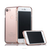 for Apple iphone 7 Metal bumper rim case silicone cover free screen protector