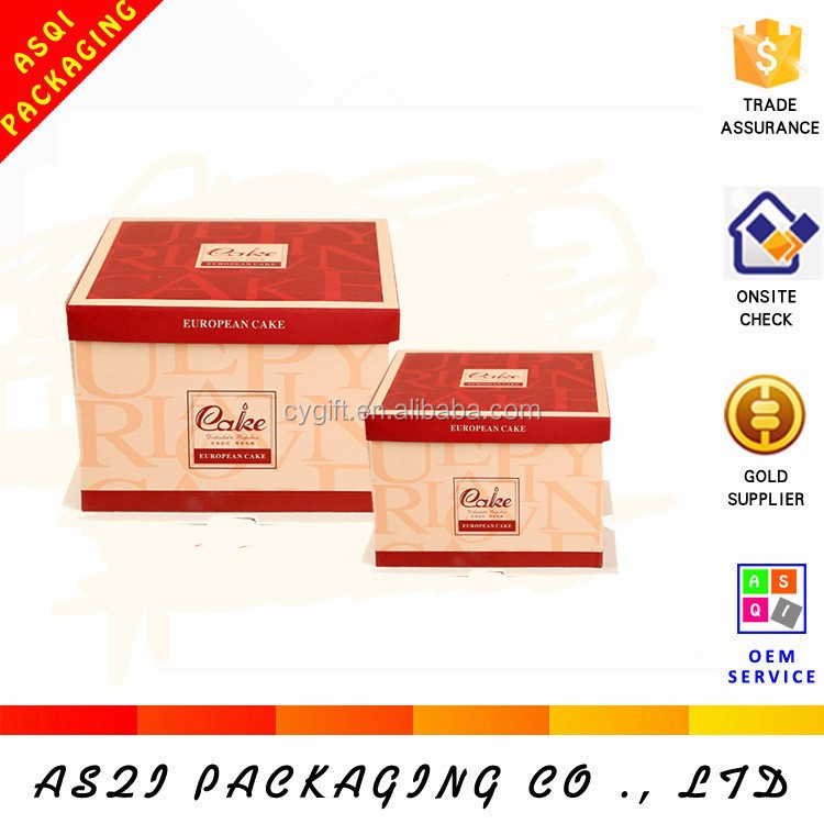 2015 Newly design paper round cheese clear packaging box for birthday cake