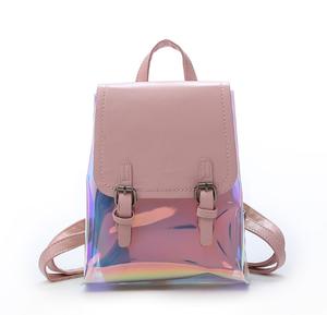 d606e3a6c Fashion hologram mini backpack korea girls shiny holographic backpack