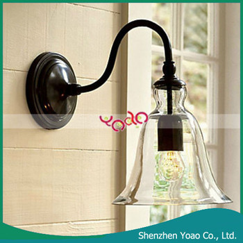 Retro Upside Down Wine Glass Style Wireless Led Glass Wall Reading ...