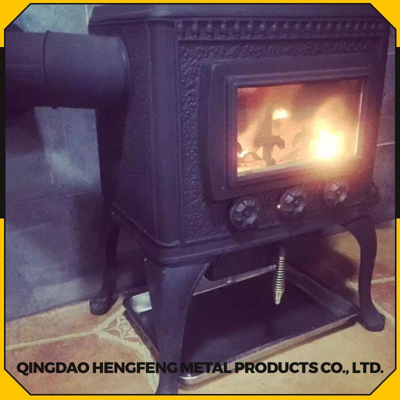 Hierro fundido de camping estufa con horno estufas for Horno de hierro fundido