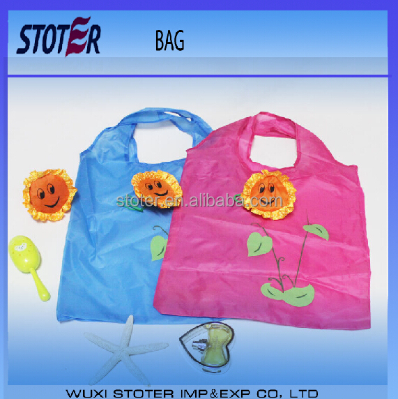 various colors digital printing supermarket foldable shopping bag