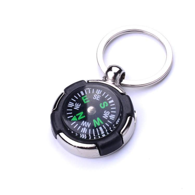 Couro e metal personalizado keychain/anel chave