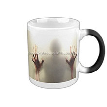 the walking dead Magic Morning Mug Coffee Tea Milk Hot Cold Heat Sensitive Color changing Black and White Morphing Mug