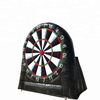 Sticker Shooting Target Football Game Inflatable Soccer Dart Board with Balls
