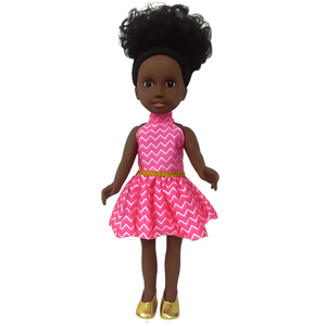 TongLi LS18880 kid toys for boys and girls baby doll 18 inch vinyl mini African American girl kids doll toy flexible joint
