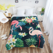 Custom made design digital print 겨울 flamingo <span class=keywords><strong>모라</strong></span> <span class=keywords><strong>담요</strong></span> <span class=keywords><strong>스페인</strong></span> 300gsm 넬 blanket