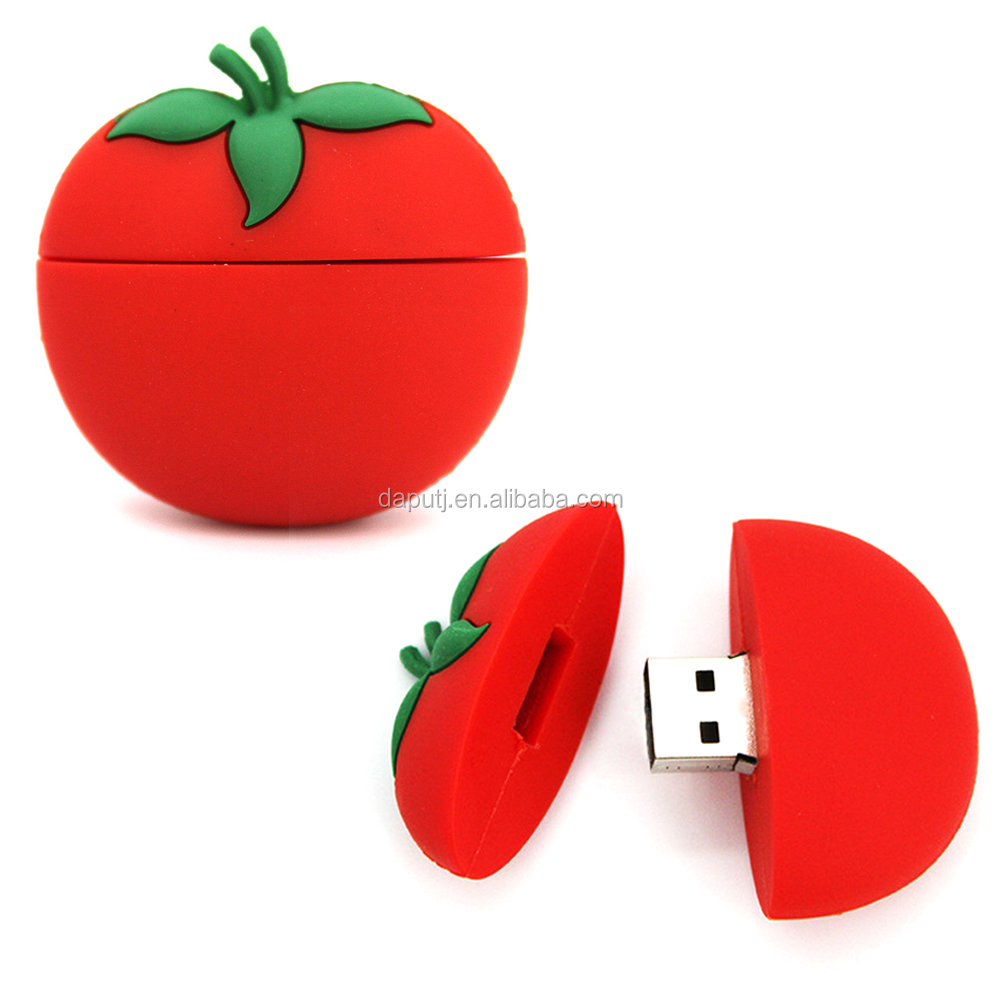 Food & fruit tomato usb flash drive 32gb usb promotion item cool electronic gift