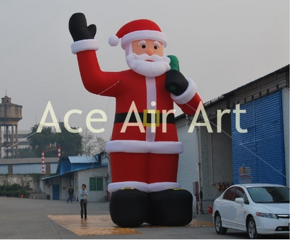 blow up inflatable Santa Claus say hello to you, Charming Christmas decoration inflatables