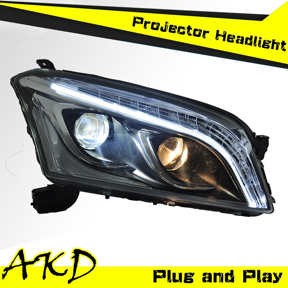 AKD Car Styling Tracker LED Headlight for Chevrolet Trax Headlights 2014 Tracker led Head Lamp Projector Bi Xenon Hid H7