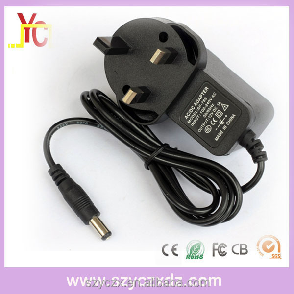 UK AC/DC black 12V 1A 10W power adapter plug use for Audio-visual products