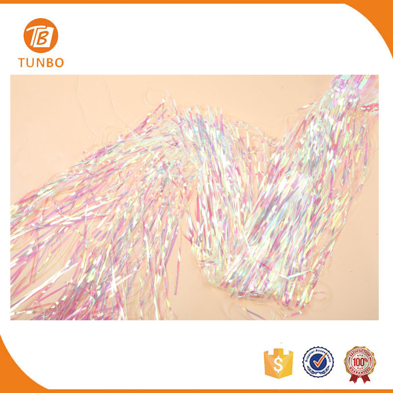Tinsel curtain metallic foil fringe door rainbow curtain backdrop for party decoration