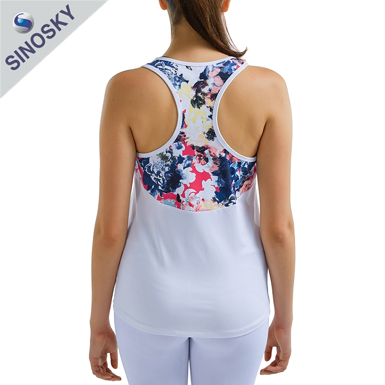 OEM sportswear china manufacturer new design workout printing clothing gym tank tops for women
