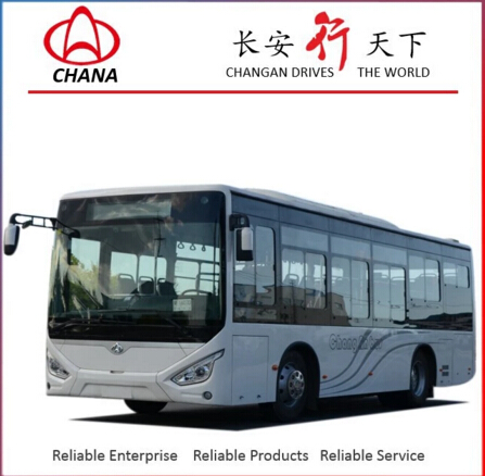 91-110km/h max speed Changan Bus Model SC6901 LNG 35 SEATER bus color design
