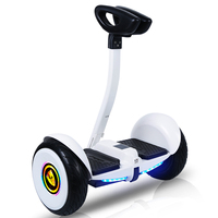 Self-balancing electric scooter with APP and LED light, self-balancing scooter with grab bars