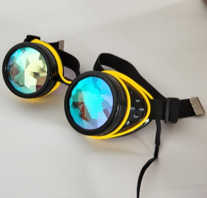 Led light flash Gothic Vintage Victorian Style Steampunk Goggles shine Welding Punk Gothic Glasses Cosplay